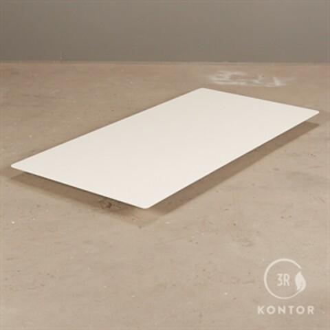 Viccabre bordplade i hvid laminat. rektangulær, 160x80