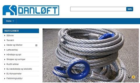Danløfts webshop - Nemt og hurtigt!  - Danløft webshop, løftegrej, løfteudstyr, reservedele, kroge, wire, kæder, taljer og faldsikring.