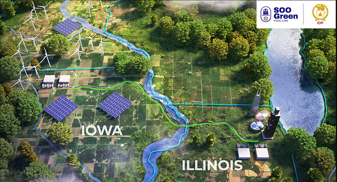 SooGreen Link mellem Iowa og Illonois