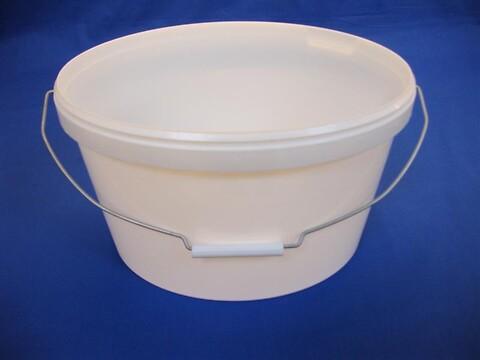 Oval plastspand EOE11000 - 11,6 l.- hvid