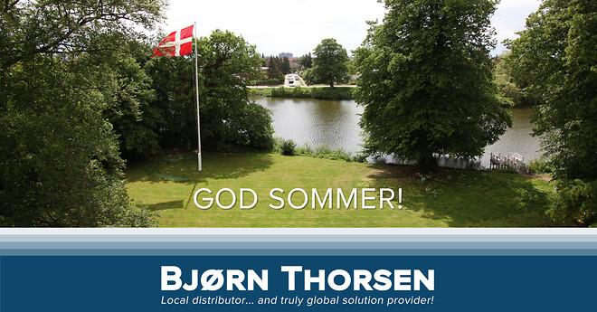 En sommerhilsen fra Bjørn Thorsen. God sommer.