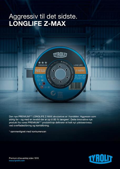 80% længere levetid og 30% mere aggressivitet PREMIUM*** LONGLIFE Z-MAX skrubskive