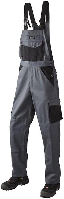 Overall, bomuld, 10207 - grå/sort