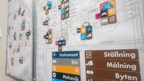 Magnetsystem för att visualisera underhåll - Magnetsystem för att visa arbetsordrar