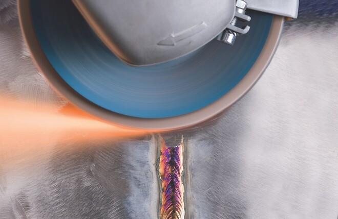 PFERD lamelslibeskive til stål og rustfrit stål.