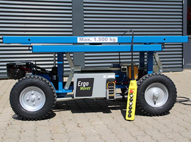 ErgoMover elektrisk transportvogn kan nu fås med fjernbetjent styring.