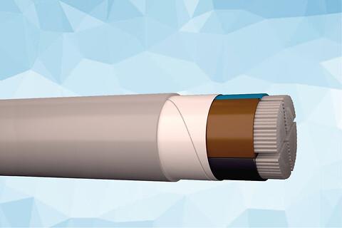 PEX-AL-S 1 kV aluminium elforsyningskabel