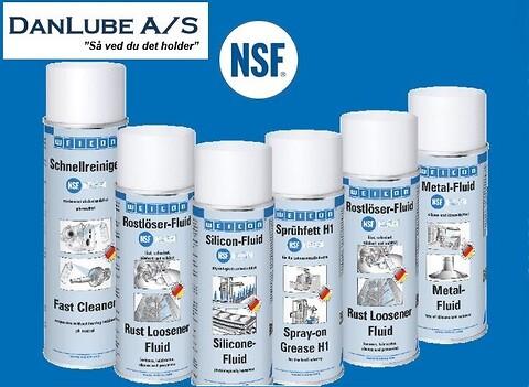 NSF godkendte Smøremidler og Rensespray