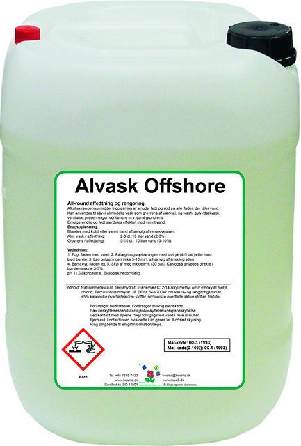 Offshore godkendt rensevæske - Alvask OFFshore