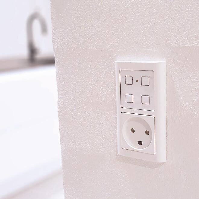 SC.SS.01 gør det nemt for brugeren at styre lys og varme i f.eks. køkken alrummet.