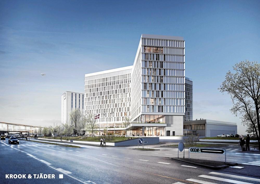 ef230f3384b4 Til ventre Comfort Hotel i Krook   Tjäders streg. Herunder byggeriet  februar 2019. (Foto  Projektdirektør Jonas Ulrik Jessen)