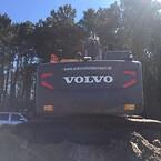 Volvo ECR145El og Volvo EC220El med Topcon Maskinstyring monteret. Topcon, Topptopo.