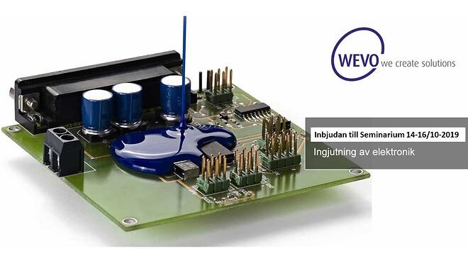 WEVO håller seminarium om ingjutning av elektronik, välkommen!