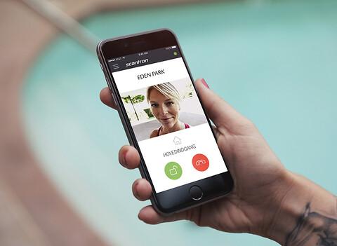 Scantron MultiApp® – Fremtidens dørtelefoniløsning - Scantron MultiApp - mobil dørtelefoniløsning