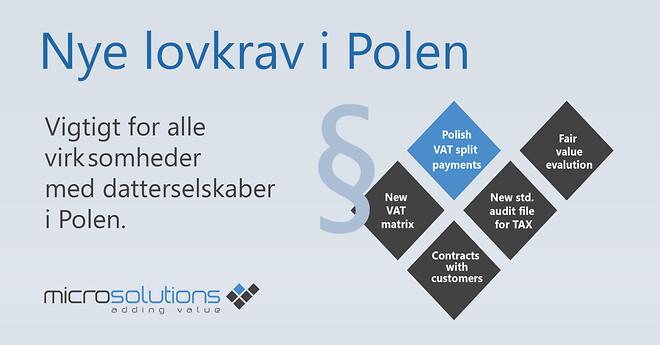 Ændringer polske datterselskaber Dynamics 365 AX