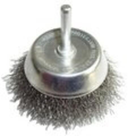 Kop stålbørste Ø63 mm m/aksel