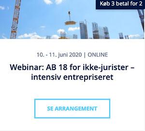 Webinar: AB 18 for ikke-jurister - intensiv entrepriseret - Nohrcon