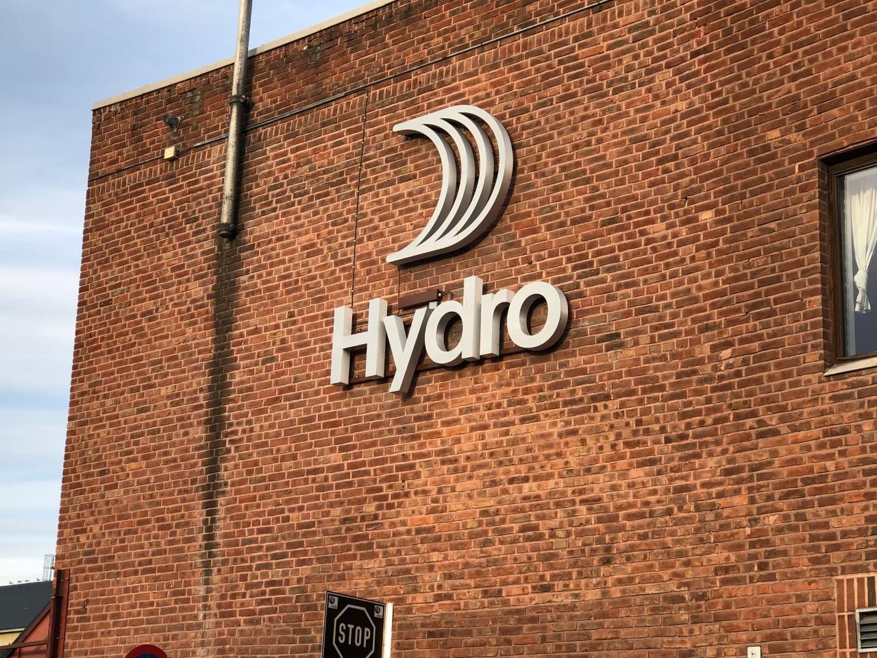 Hydro logo Holmestrand