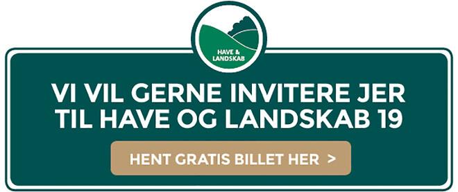 Have og Landskab 2019 i Slagelse 28 - 30 august stand A279