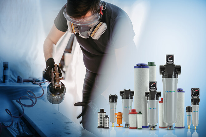Pneumatech filtre til trykluft
