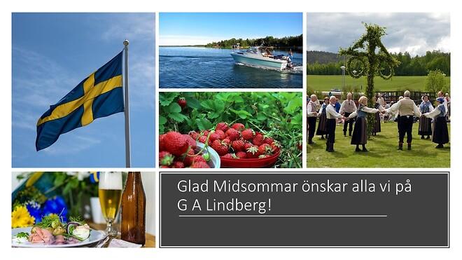 Glad Midsommar önskar G A Lindberg!