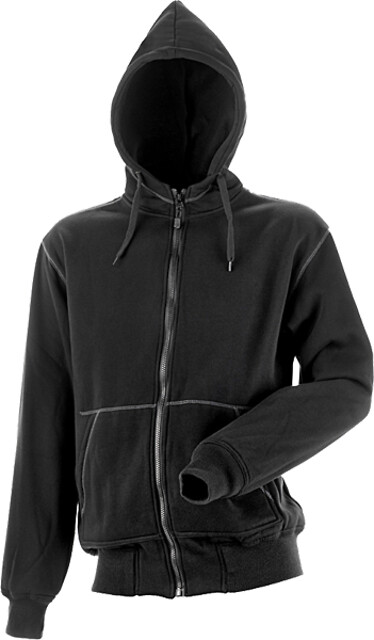 Hættesweatshirt, sort - 8520