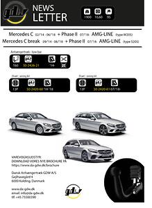 Mercedes C AMG Line Dragkrok fron Dansk Anhængertræk GDW