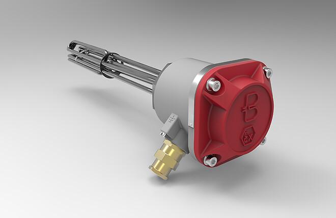 Elpatron avsedd för användning i områden med risk för exponering för explosiv gasatmosfär />