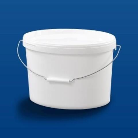 Oval plastspand EOE12500 - 12,8 l. - hvid