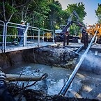 """Nordkysten etablerer to Ø710-vandledninger mellem det gamle vandværk i Lejre og HOFORs kommende nye, """"Værket ved Gevninge"""". (Foto: Nordkysten)"""