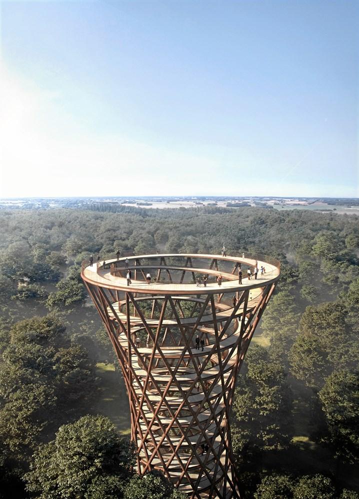 3a79f650eadb Spektakulært træ-tårn rejser sig i skoven - Licitationen