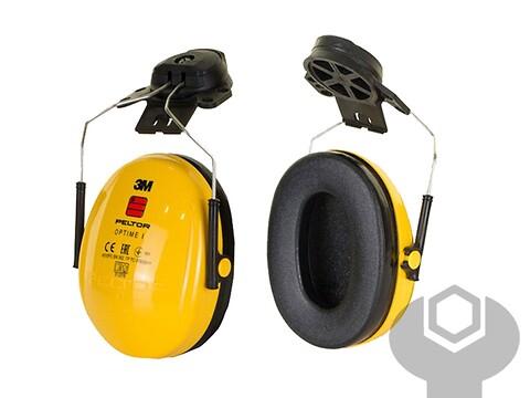 Høreværn peltor optime i - gul f/hjelm - 3M