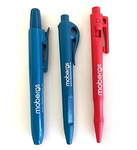 Detekterbara pennor med tryck och löpnummer