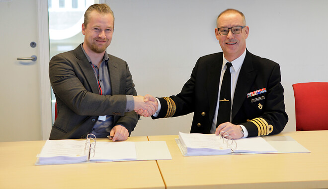 CEO/CTO Søren Rasmussen og Kommandør Kim Bo Meier