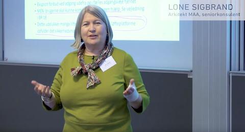 BUILD: Offentligt tilgængeligt byggeri, 21. oktober - Lone Sigbrand underviser på kurset om offentligt tilgængeligt byggeri