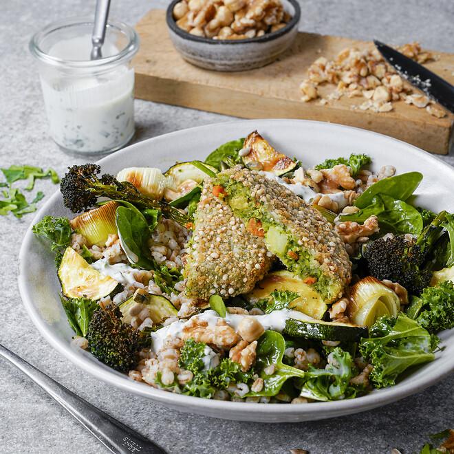 Green Cuisine, plantebaserede frosne produkter, \nklimavenlige, quinoa/grønkåsbøffer