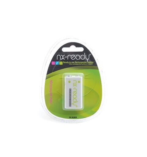 NX-Ready 9V NiMH genopladeligt batteri 200mAh - NY PRIS - NX-READY 9V NiMH 200mAh