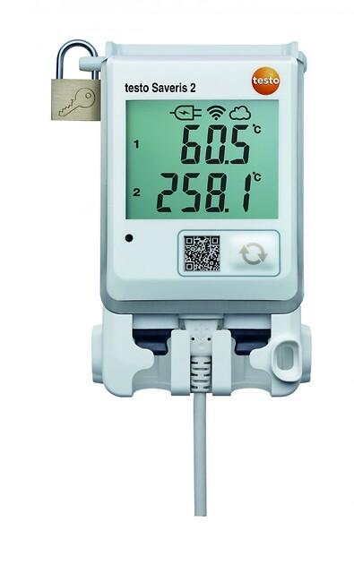 Testo Saveris 2-T3 WiFi-temperaturlogger for eksterne termoelementfølere fra Max Sievert AS