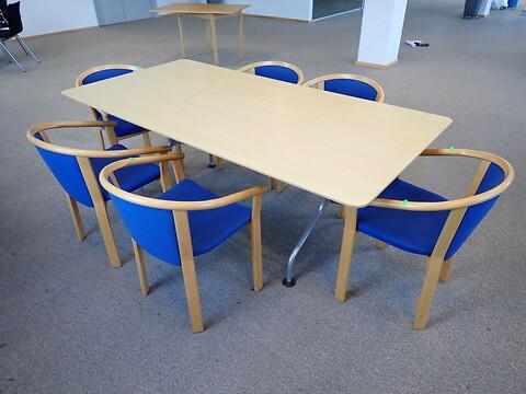 6 stk. konferencestole magnus olesen m. mødebord Licitationen