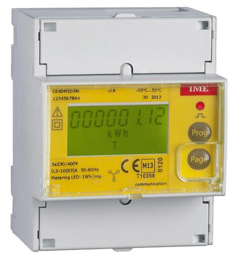 4 Moduls MID energimåler og M-bus