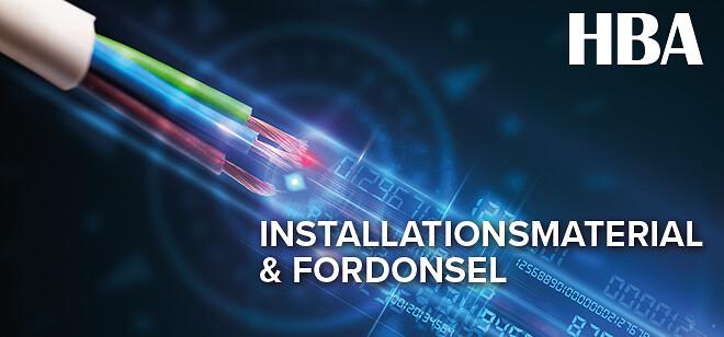 fordonsel och installationsmaterial