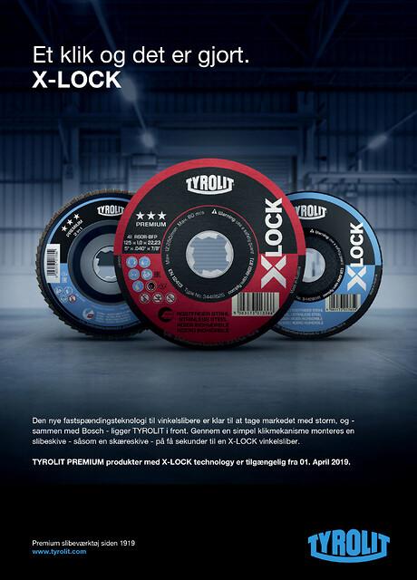 X-LOCK - et klik og skiven er monteret