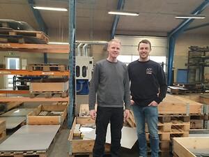 Nicki Andersen(tv) og Rasmus Nørgaard(th) er nye ansigter hos Nørgaard Teknik