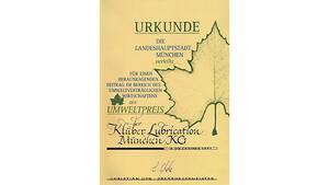 Klüber Lubrication bæredygtig beskyttelse af miljøet