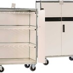 VÆSKEVOGN\nSpecielt udviklet til transport, distribution og opbevaring af hængende\nvæskeposer med infusionsvæsker.