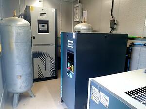 Kvävgasgenerator och kompressor från Atlas Copco