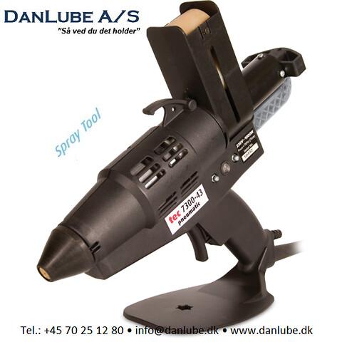 TEC 7300 Pneumatisk hotmelt spray limpistol