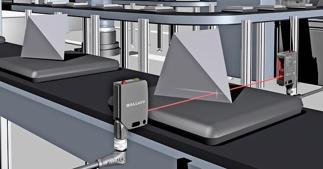 Laser distance sensor, Balluff, IO-Link,