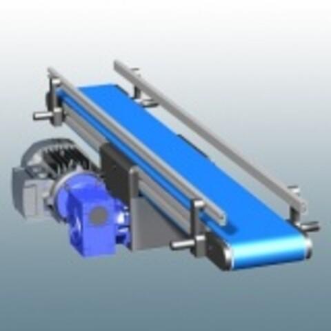 Båndtransportør med sidestøtte fra Aluflex System