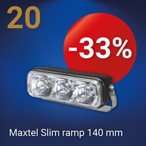 Maxtel Slim extraljusramp